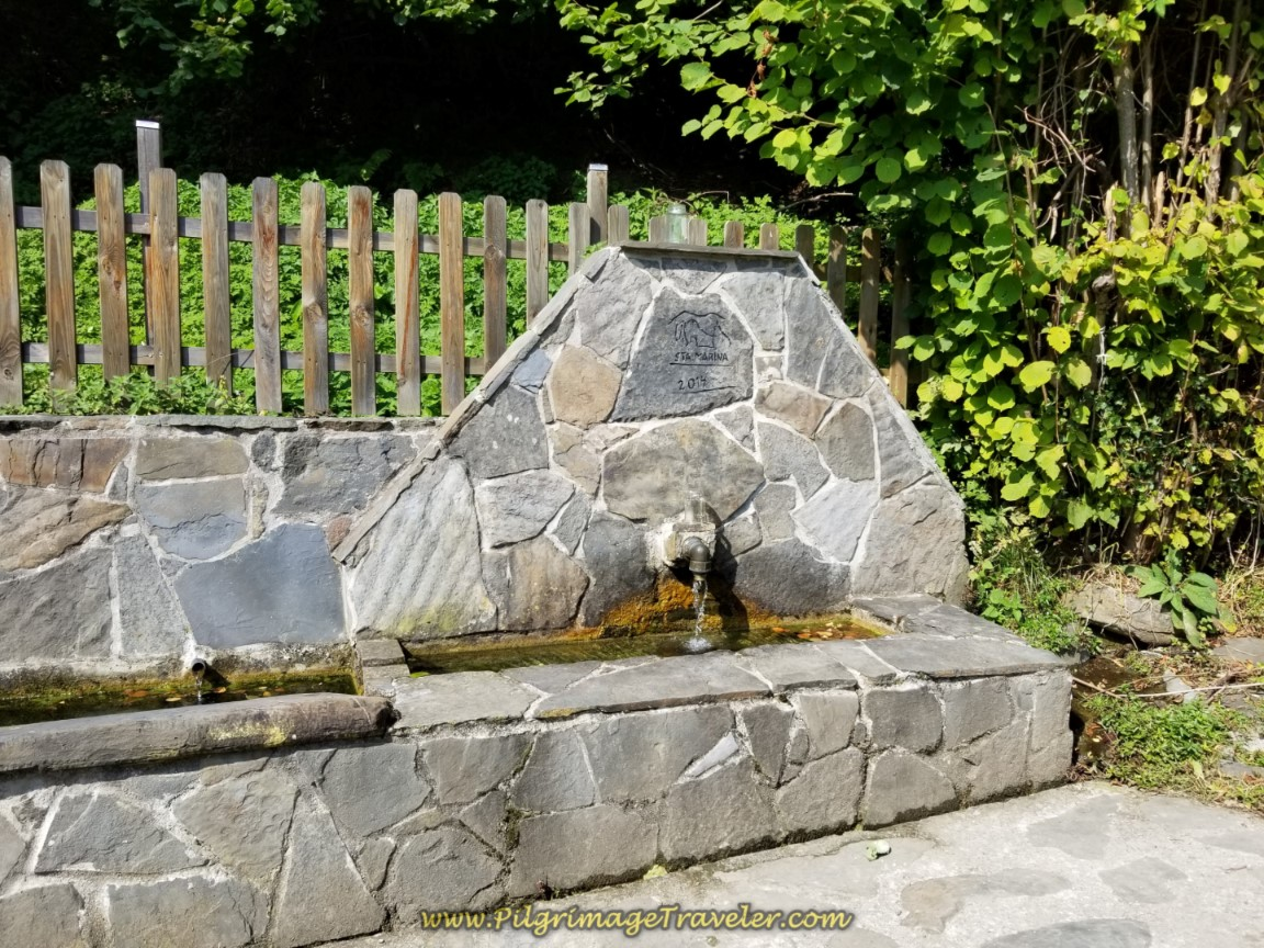 Walk By Water Fountain in Santa Marina
