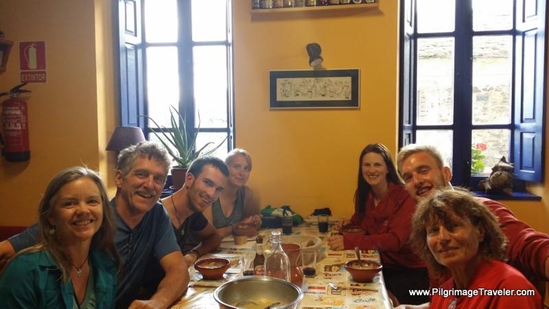 Dinner Gathering at the Albergue Juvenil, Castro, Spain