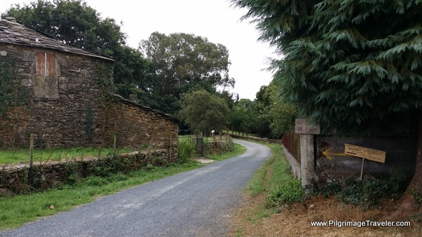 Here the Way Turns Left Toward Ponte Ferreira, Spain