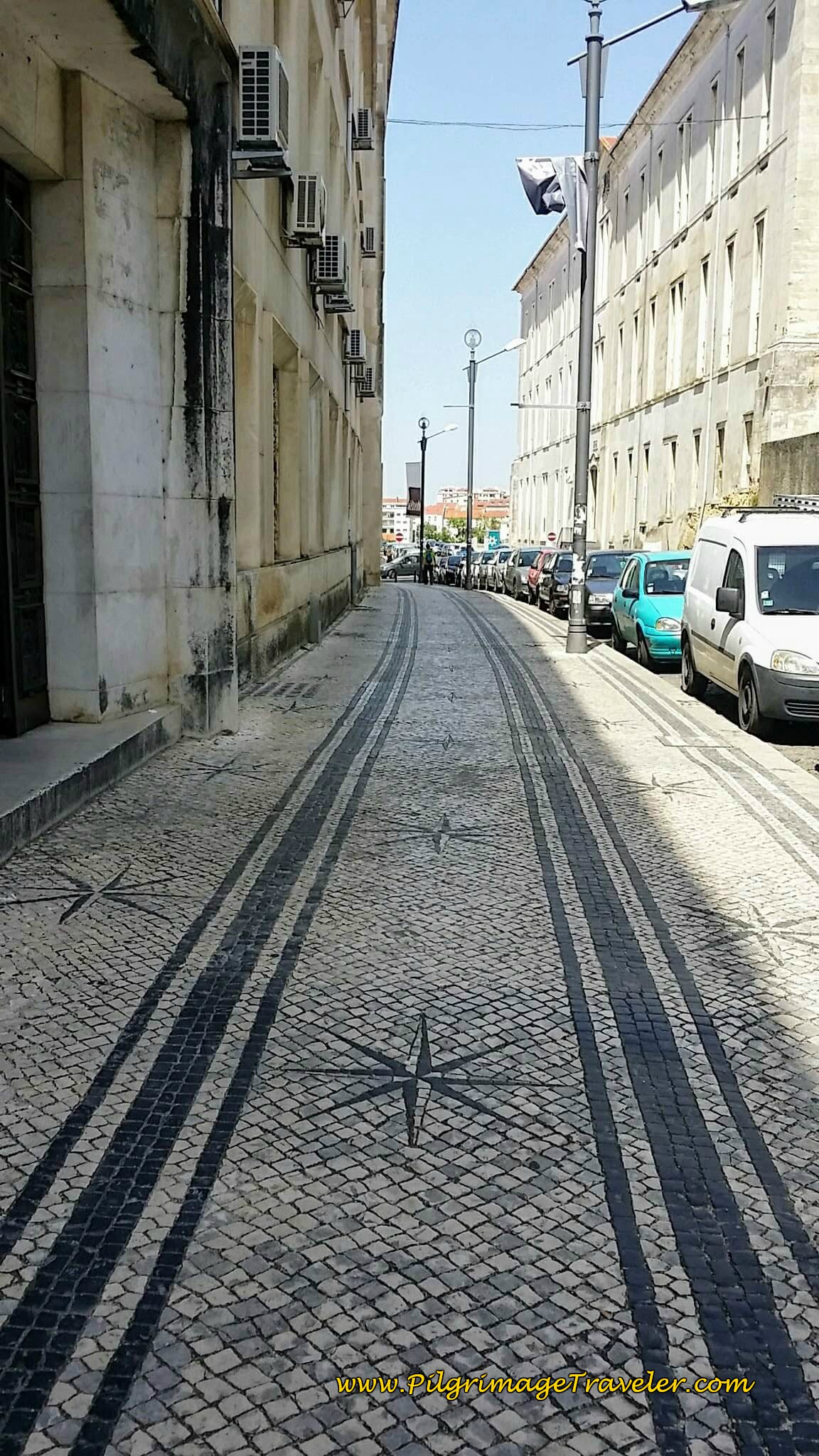 Rua Estudos, Granite Setts (Cobblestone), University of Coimbra Campus in Portugal