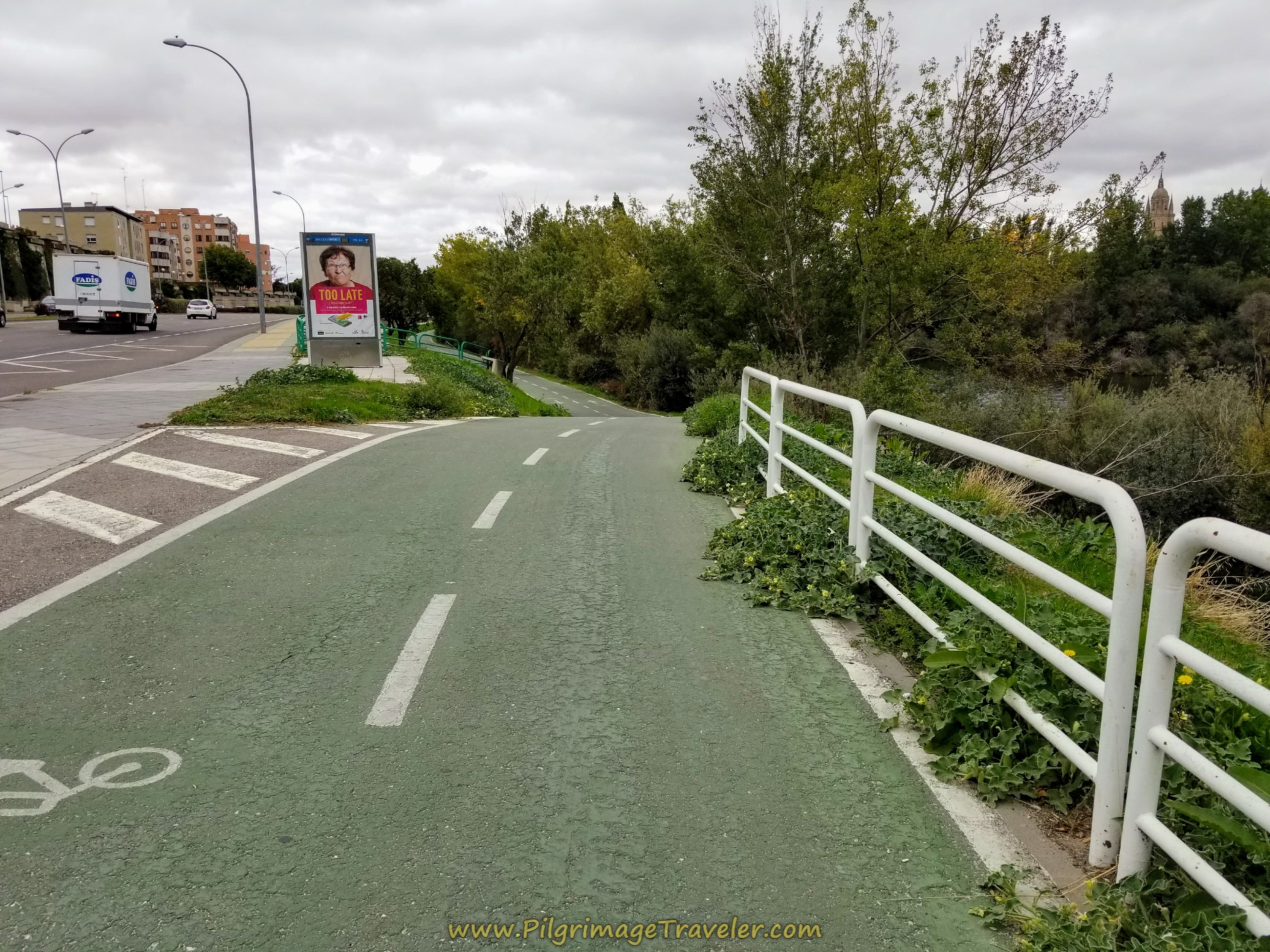 Pick Up the Bike Path Along the Río Tormes