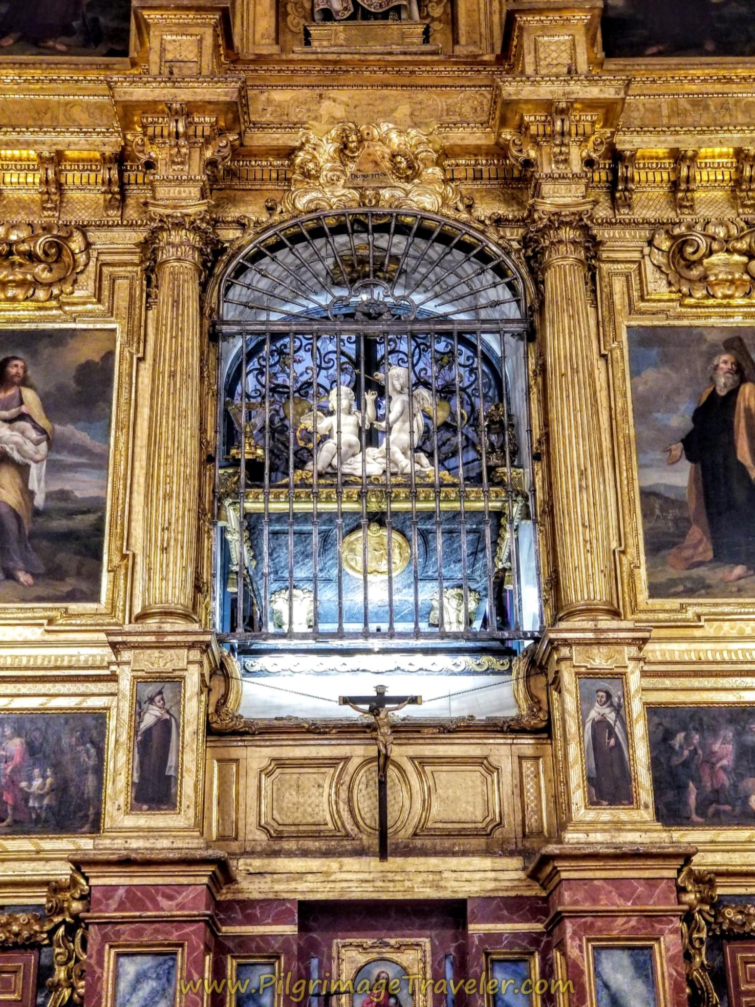 Close Up of the Tomb of Santa Teresa de Jesús, Iglesia de Anunciación, Alba de Tormes
