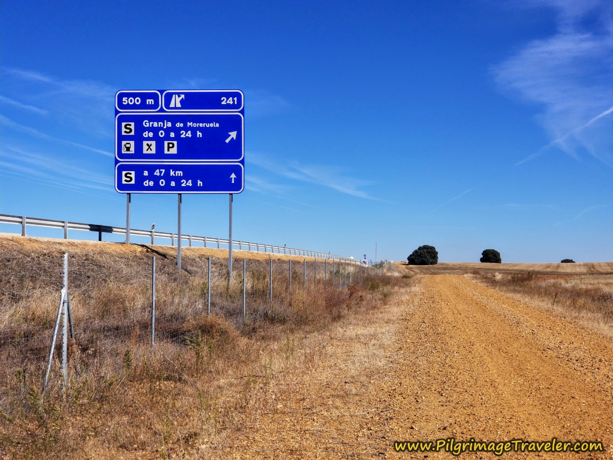 Highway Exit to Granja de Moreruela