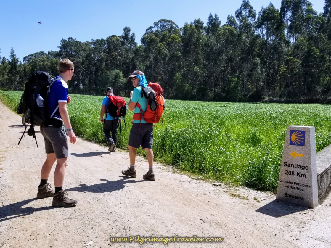 208 Kilometers to Santiago on day sixteen on the Central Route of the Portuguese Way