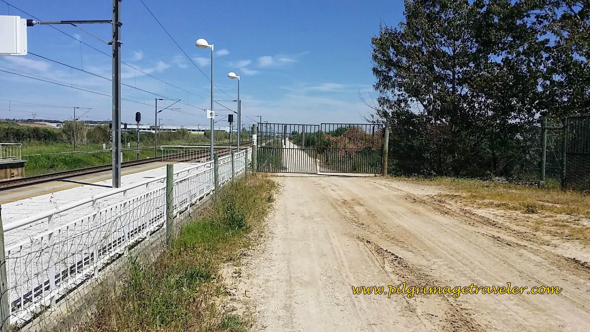 Gate on Sandy Track towards Azambuja, Portugal