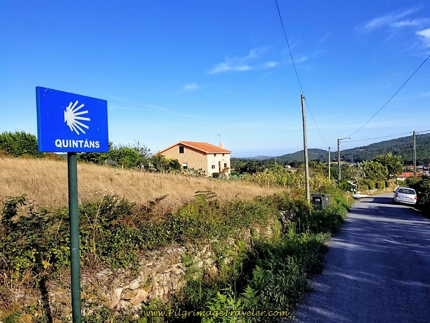 Welcome to Quintáns on day three of the Camino Finisterre to Muxía