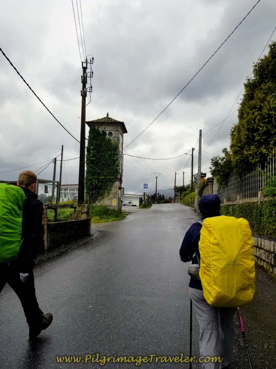 Camiño Vello de Santiago Parallels the N-550 Northward in O Porriño on day twenty-one of the central route of the Portuguese Camino