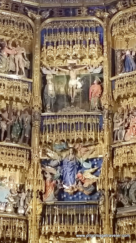 Close-Up of altar carvings, Cathedral of Oviedo, Spain