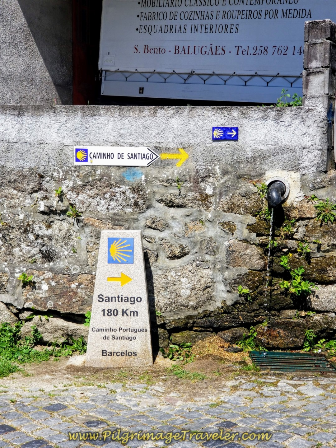 180 Km to Santiago in Balugães on day seventeen on the Central Route of the Portuguese Camino