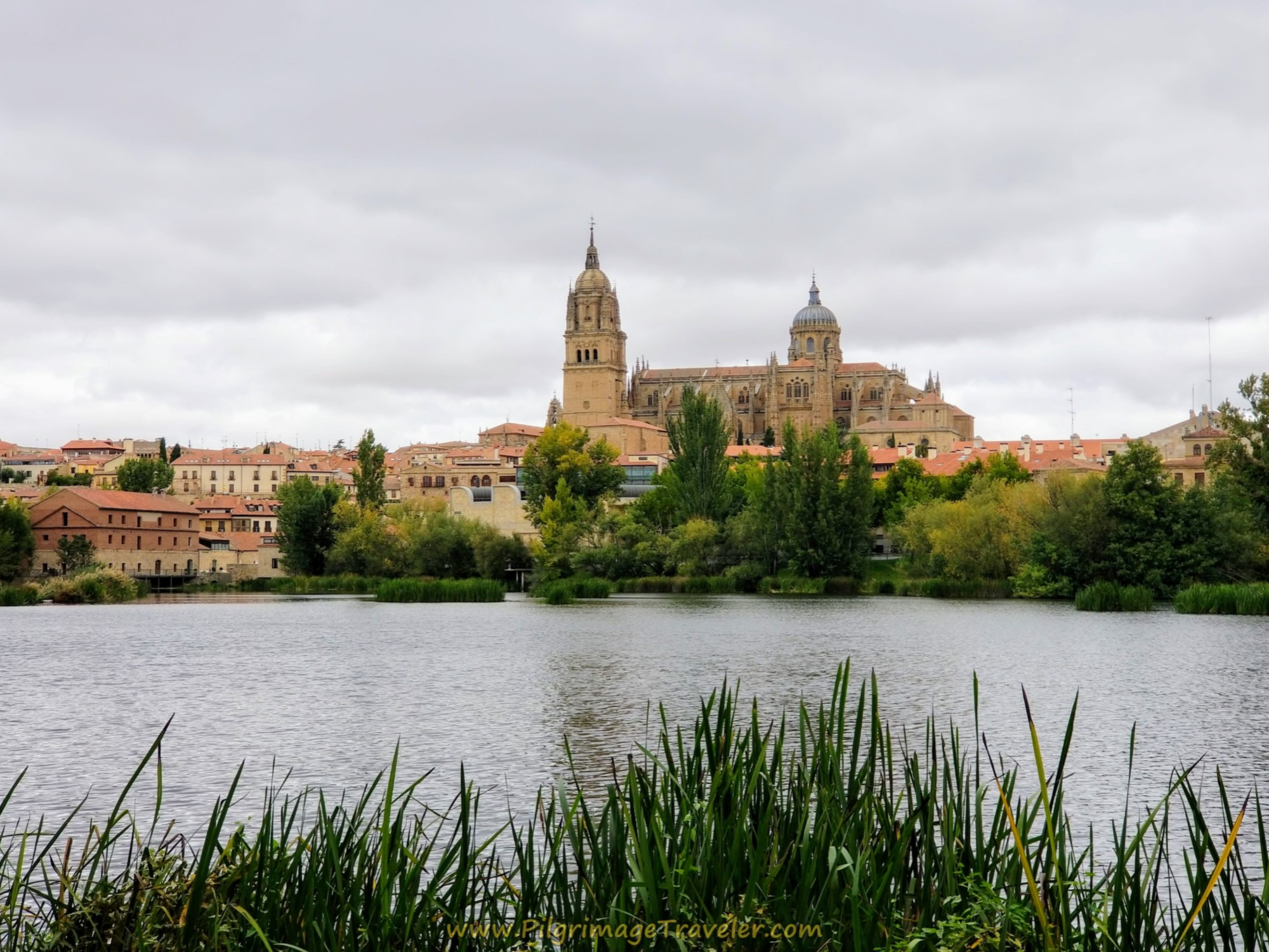 Cathedral of Salamanca from the Río Tormes