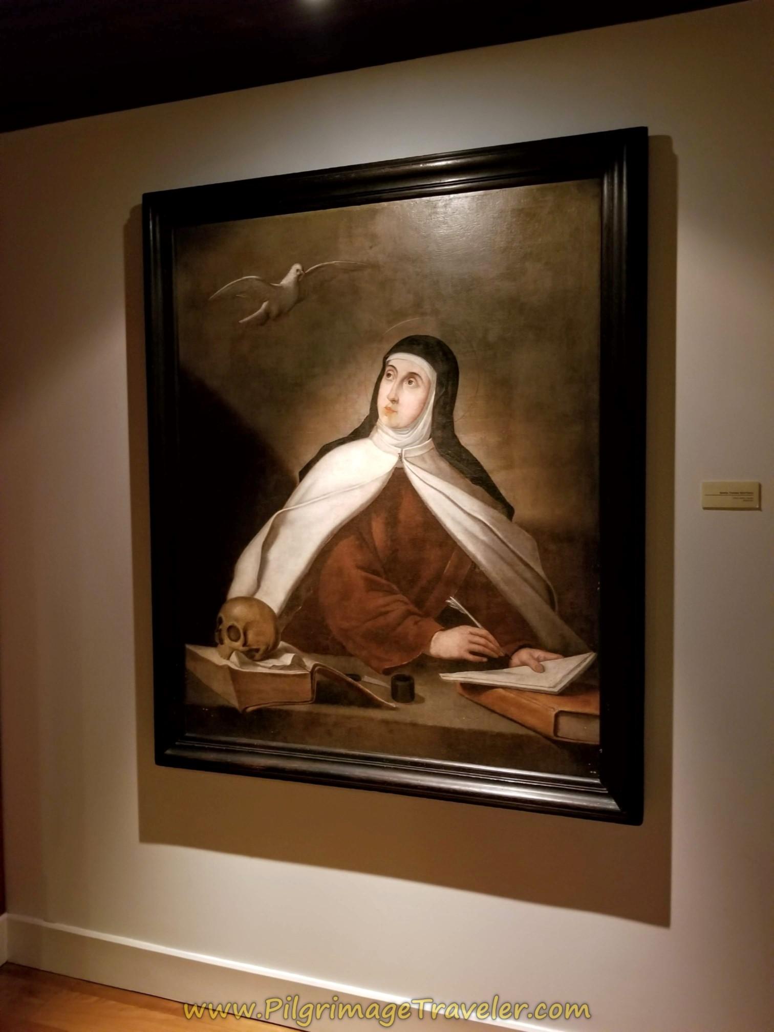 Portrait of St. Teresa Writing, Iglesia de Anunciación, Alba de Tormes