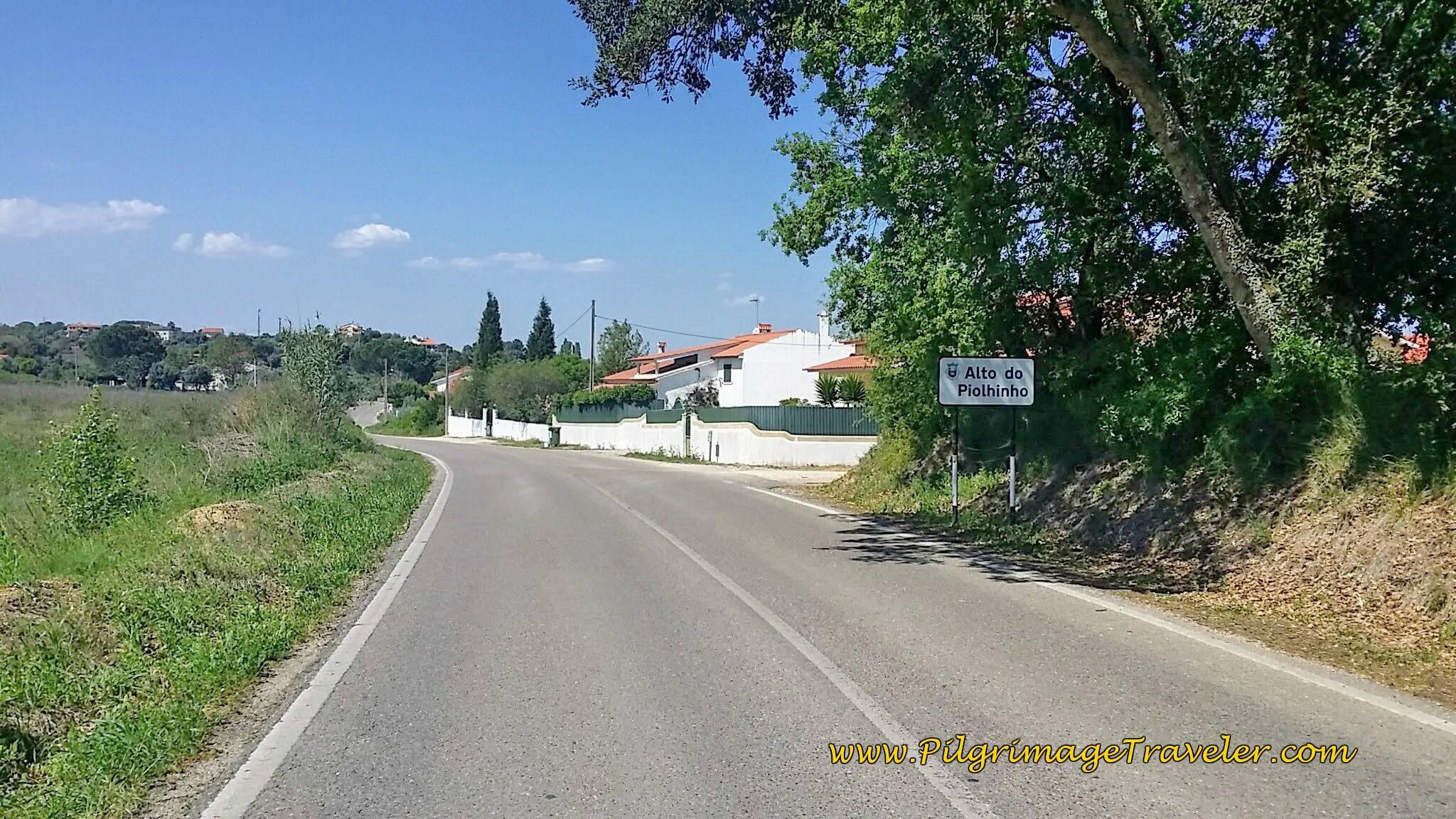 Entering Alto do Piolinho on the Portuguese Way, day five.
