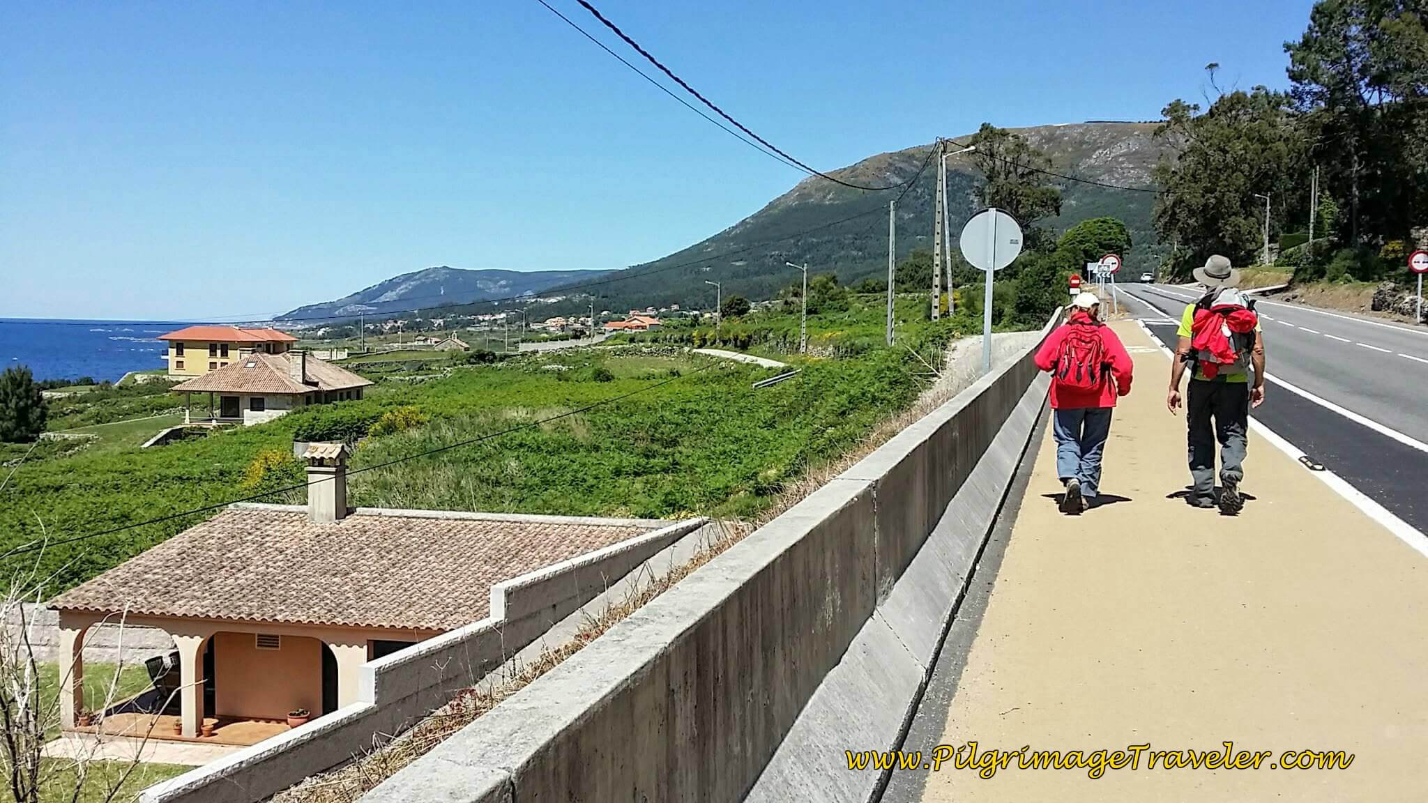 Continue on the Bikeway Along the Highway on Day Nineteen of the Camino Portugués