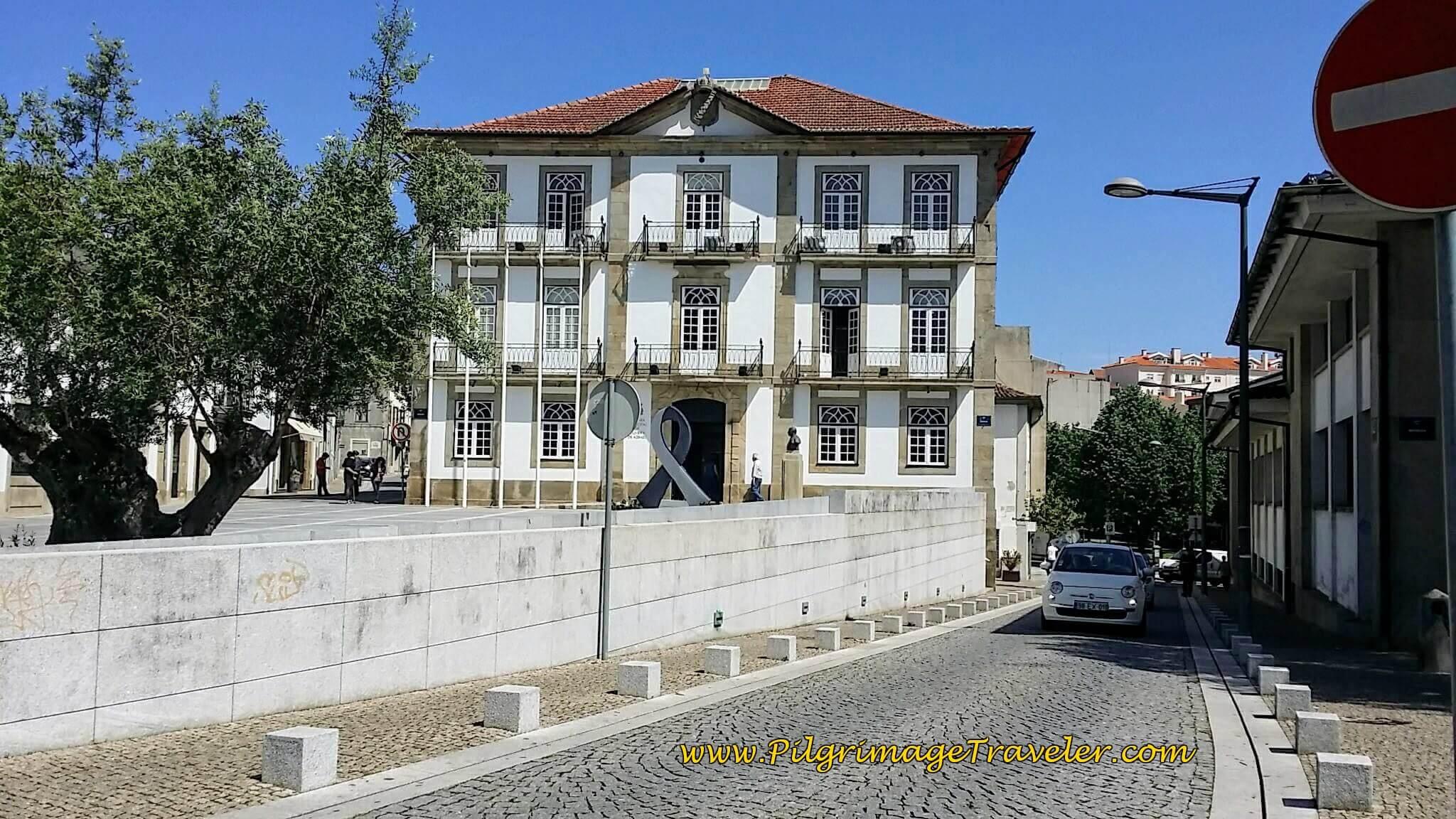 Nearing Center of Oliveira de Azeméis on Rua do Emigrante on day thirteen of the Camino Portugués