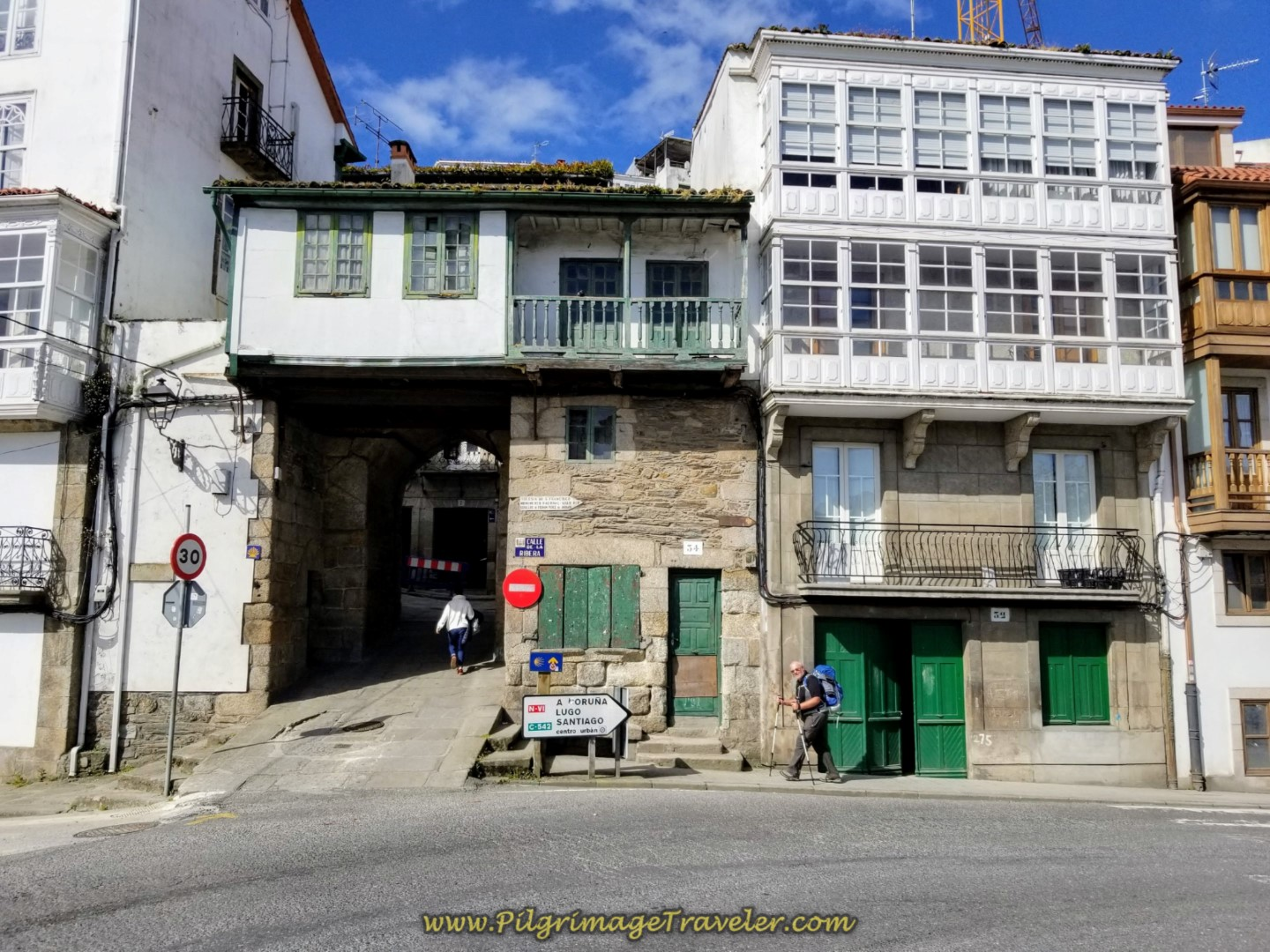Enter Old Gate of Medieval Betanzos on day four of the English Way