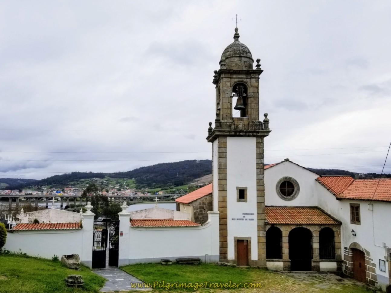Monasterio de San Martiño de Xubia by the River on day one of the English Way