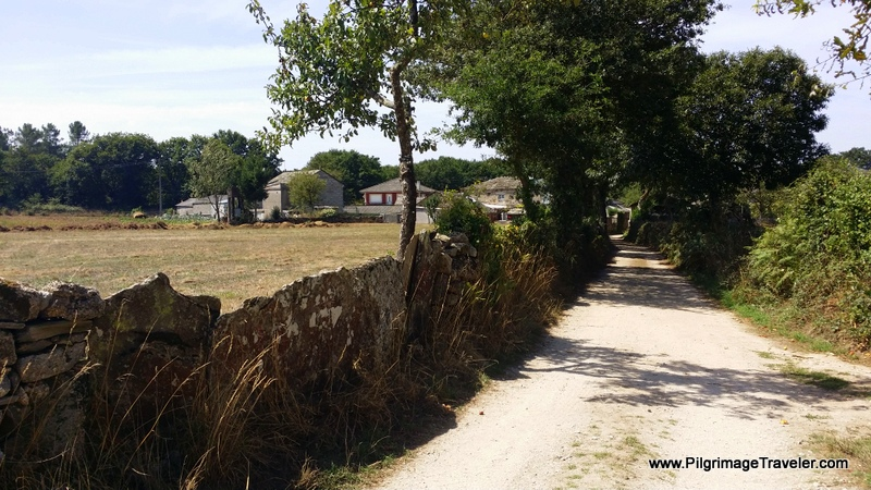 Walking Towards As Casa da Viña in Galicia, Spain