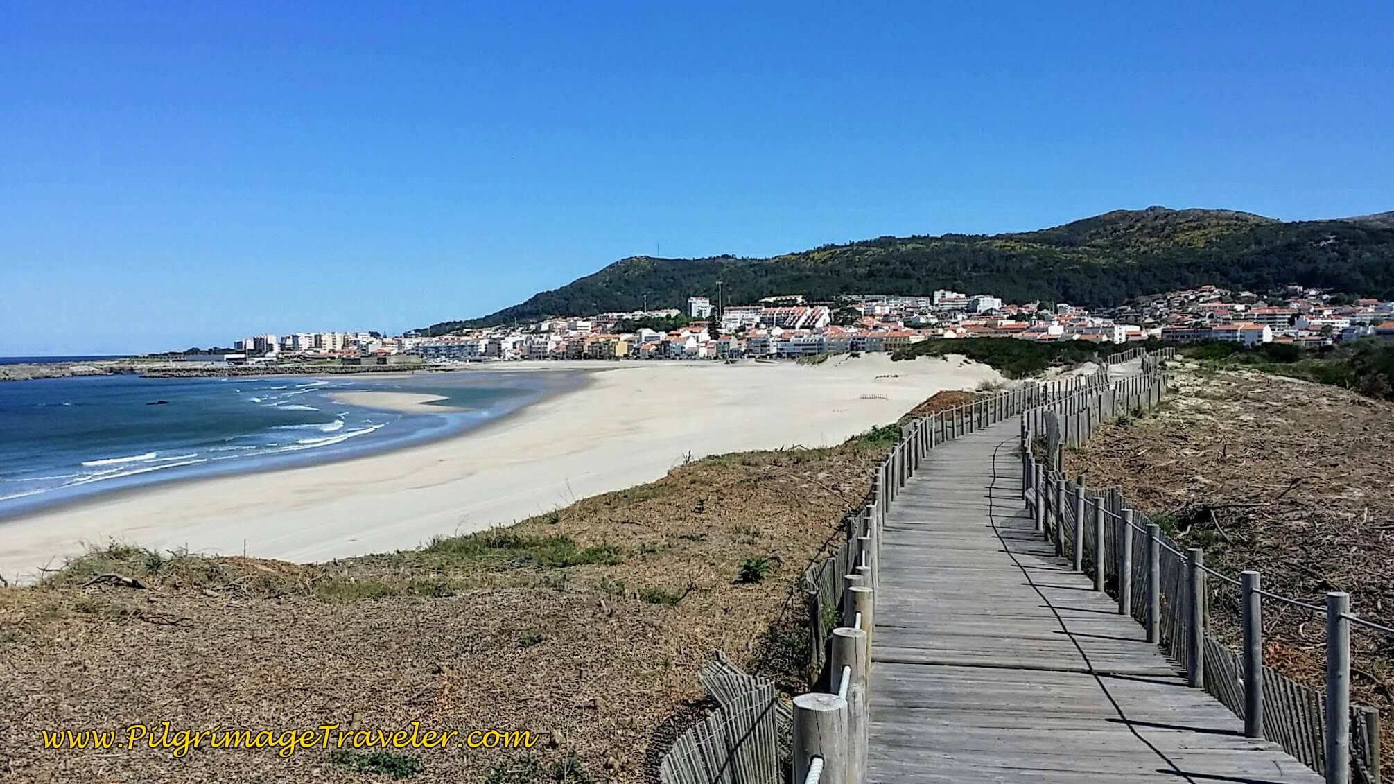 The Praia da Duna do Caldeirão Along the Boardwalk on day eighteen of the Portuguese Way on the Senda Litoral