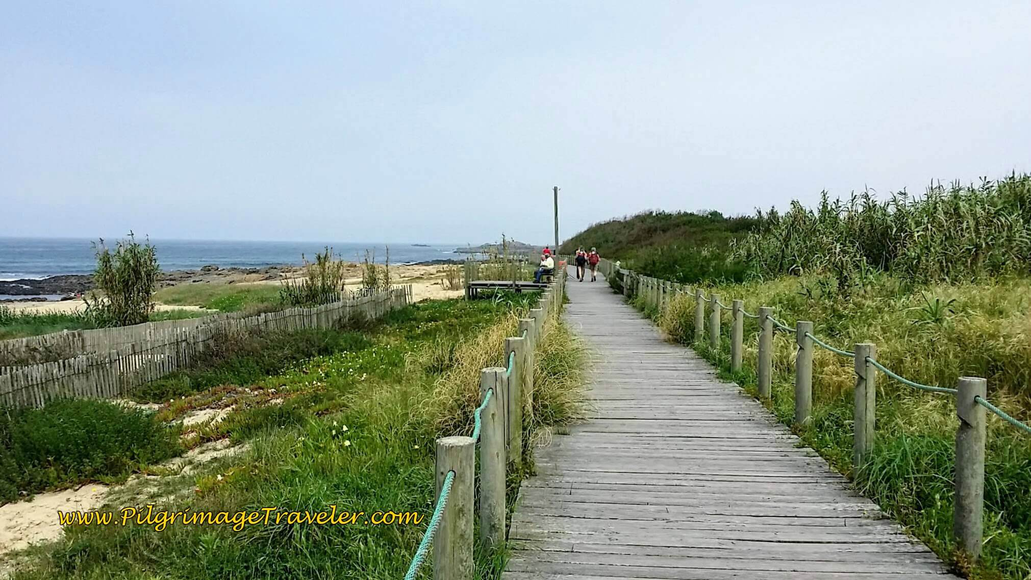 Boardwalks of Praia do Cabo do Mundo on day fifteen of the Portuguese Way on the Senda Litoral