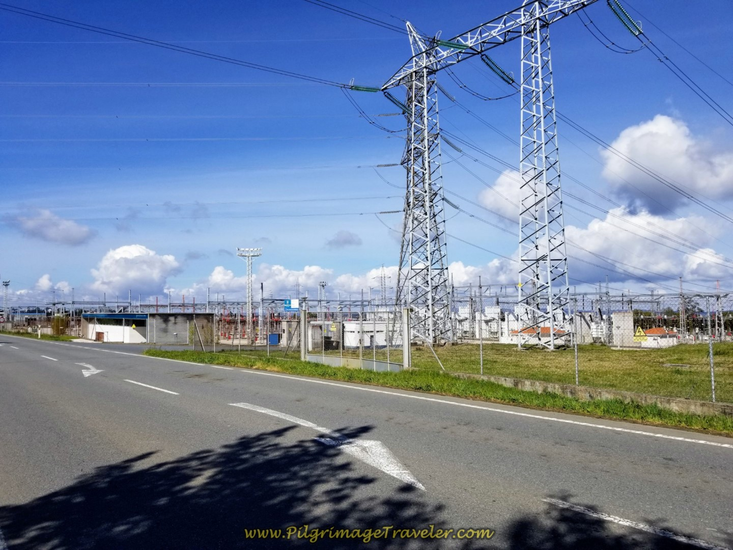 Electric Substation of Meson do Vento on the AC-542 on day two of the La Coruña Arm of the English Way