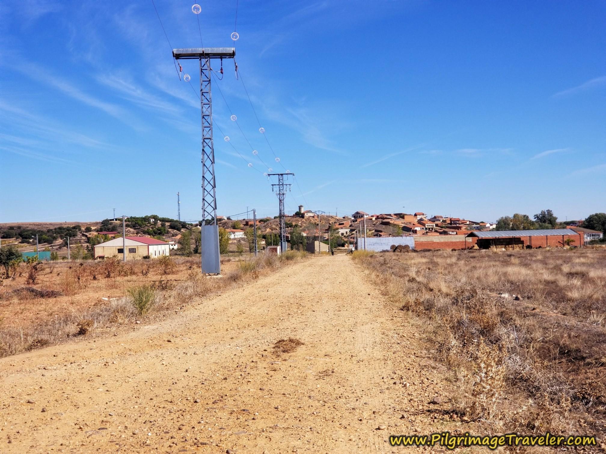 Entering Granja de Moreruela