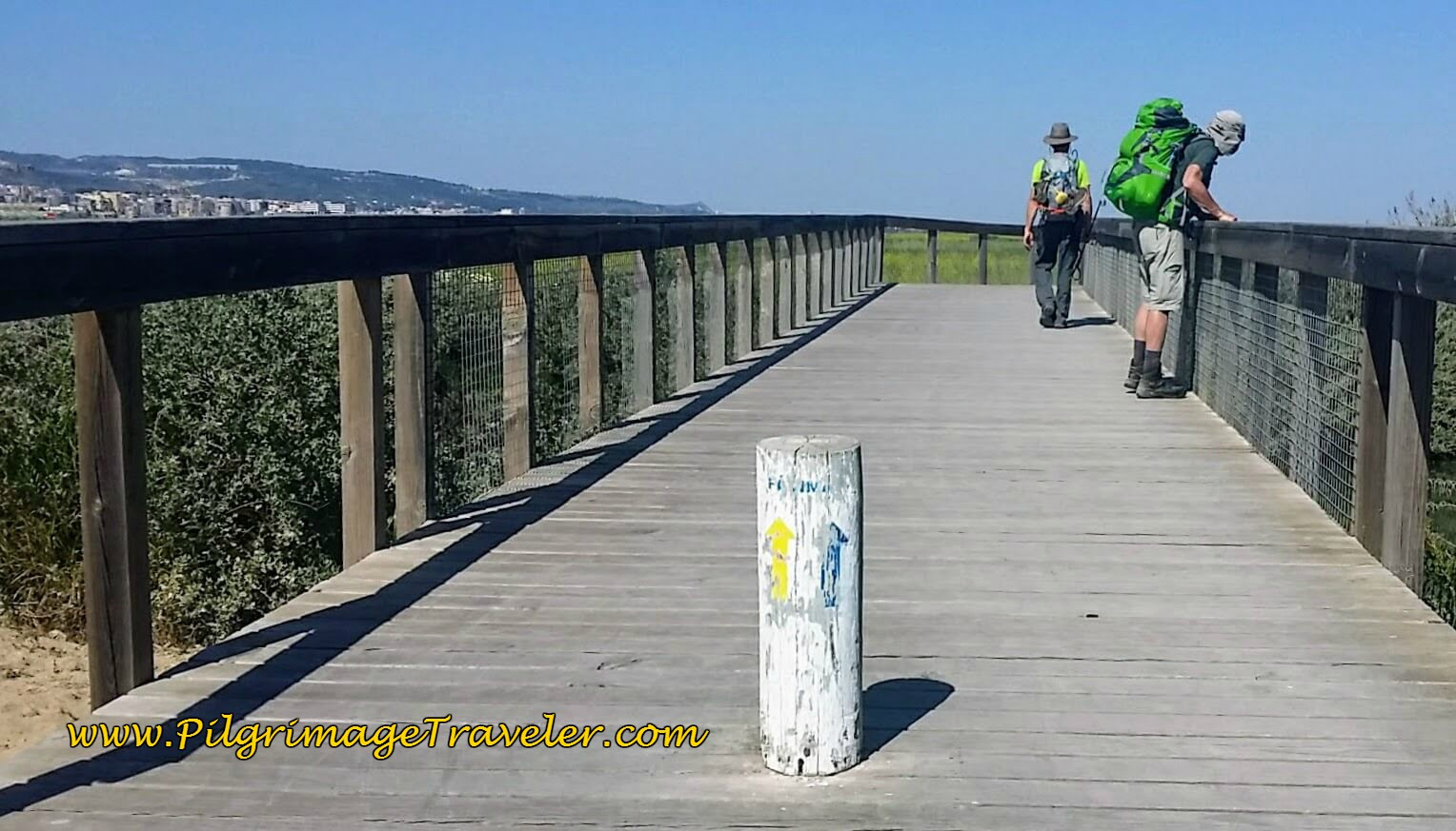Entrance to the Boardwalk at Fisherman's Beach, Alverca do Ribatejo, Portugal