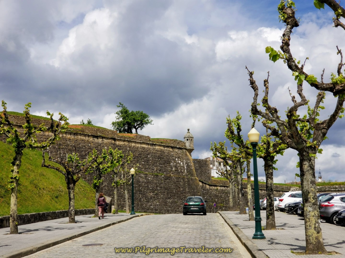 The Fortified Walls of Valença Rise Ahead on day nineteen on the Central Route of the Portuguese Camino