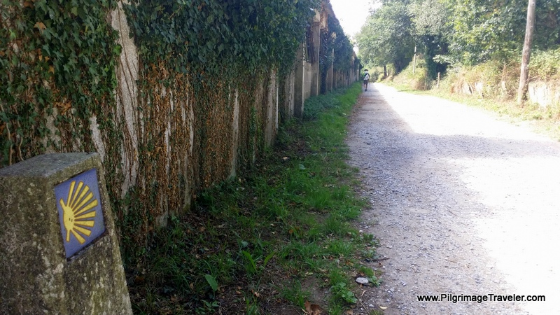 Wall-Lined Camino Before Lugo, Spain