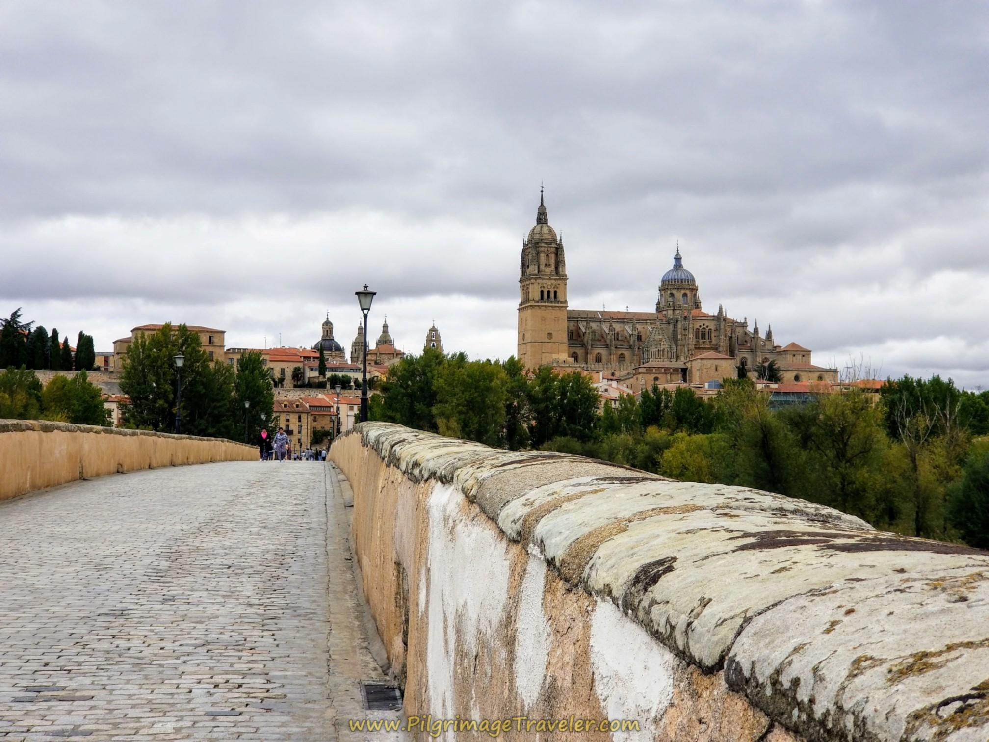 Pedestrian Roman Bridge to Salamanca Cathedral