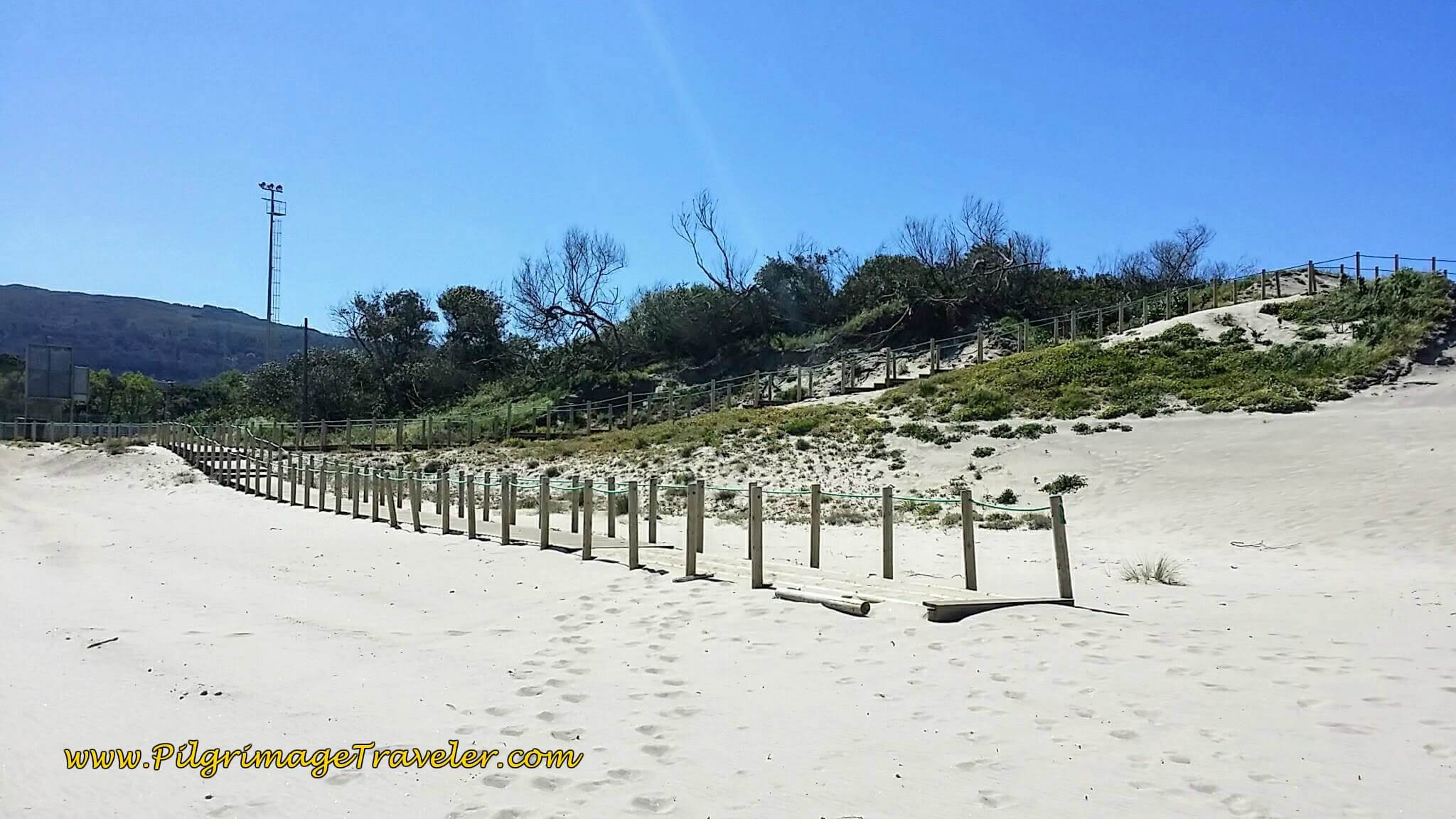 Boardwalk Suddenly Ends on day eighteen of the Portuguese Way on the Senda Litoral