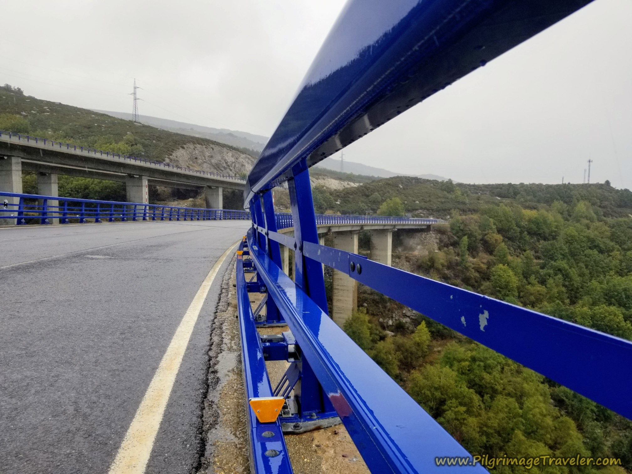 N-525 Viaduct Parallels with the A-52 Motorway on the Camino Sanabrés from Puebla de Sanabria to Lubián