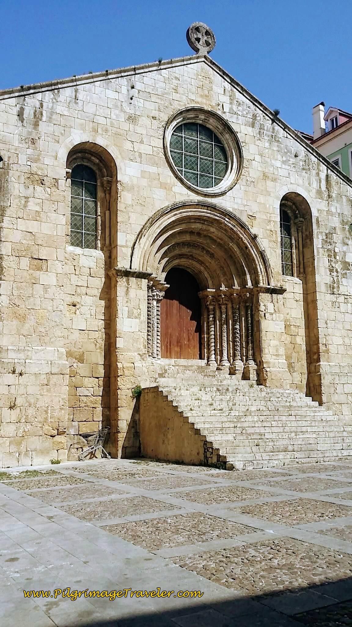 Igreja de São Tiago, along the Portuguese Camino, in Coimbra