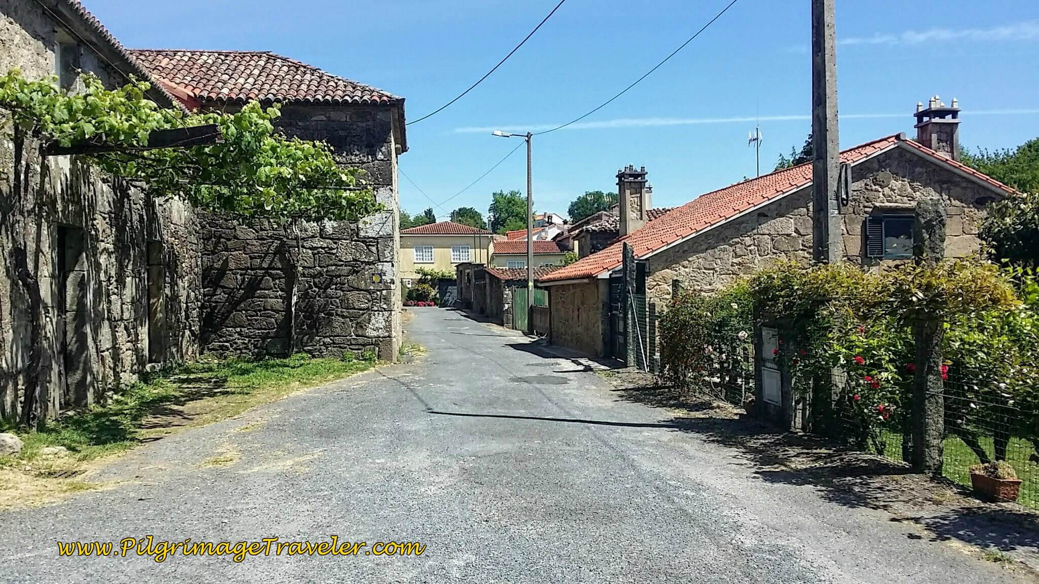 Entering the Village of Teo on Day Twenty-Four, Portuguese Camino