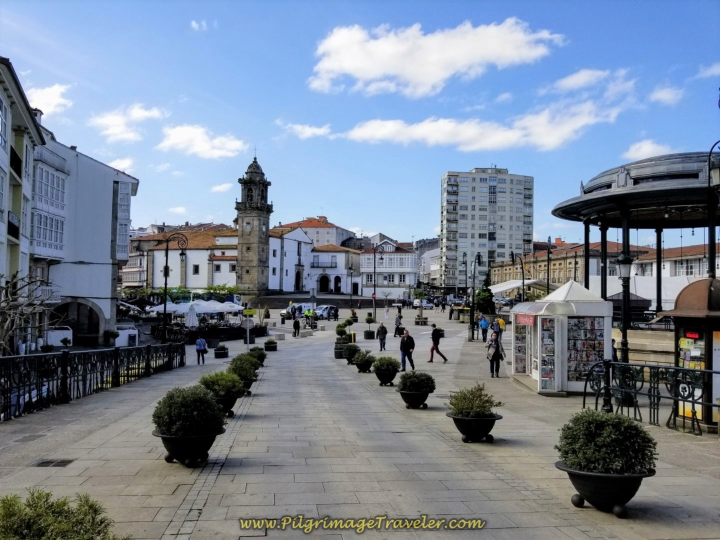 Walk on the Porta do Vila to the Central Square of Betanzos on day four of the English Way