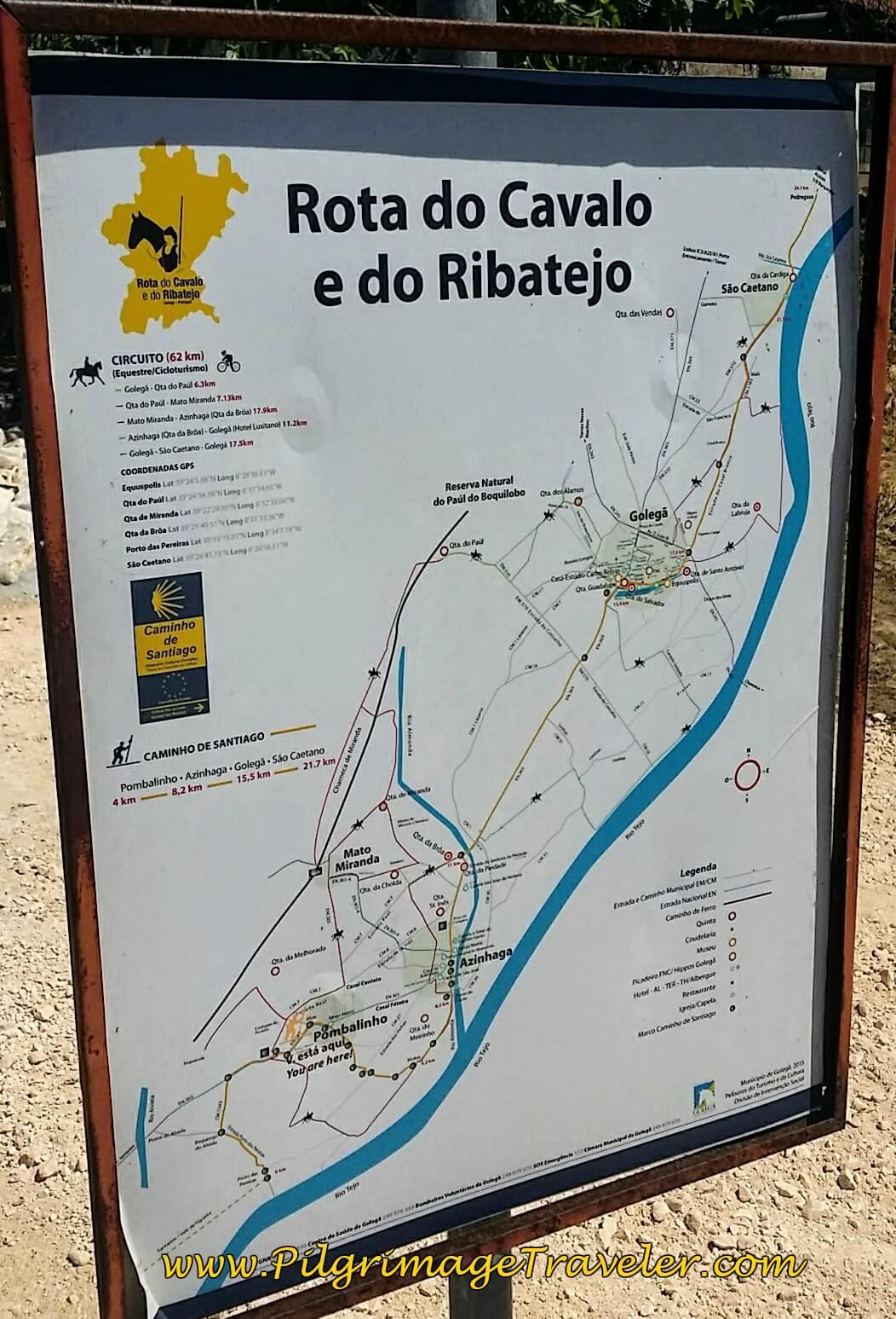 Current Camino Portugués Route