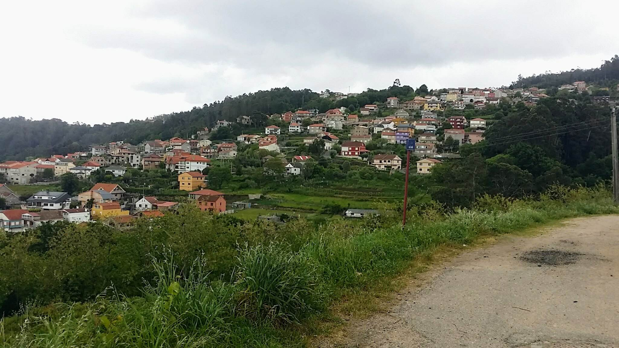 High Village Ahead on the Senda da Auga on day twenty-one of the Camino Portugués