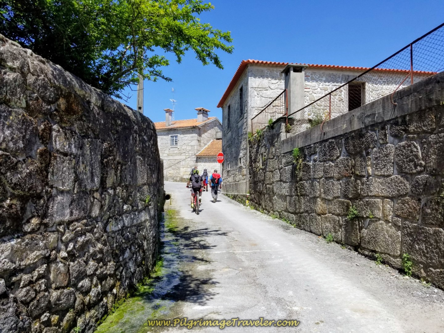 Entering the Town of Pedra Furada on day sixteen on the Central Route of the Portuguese Way