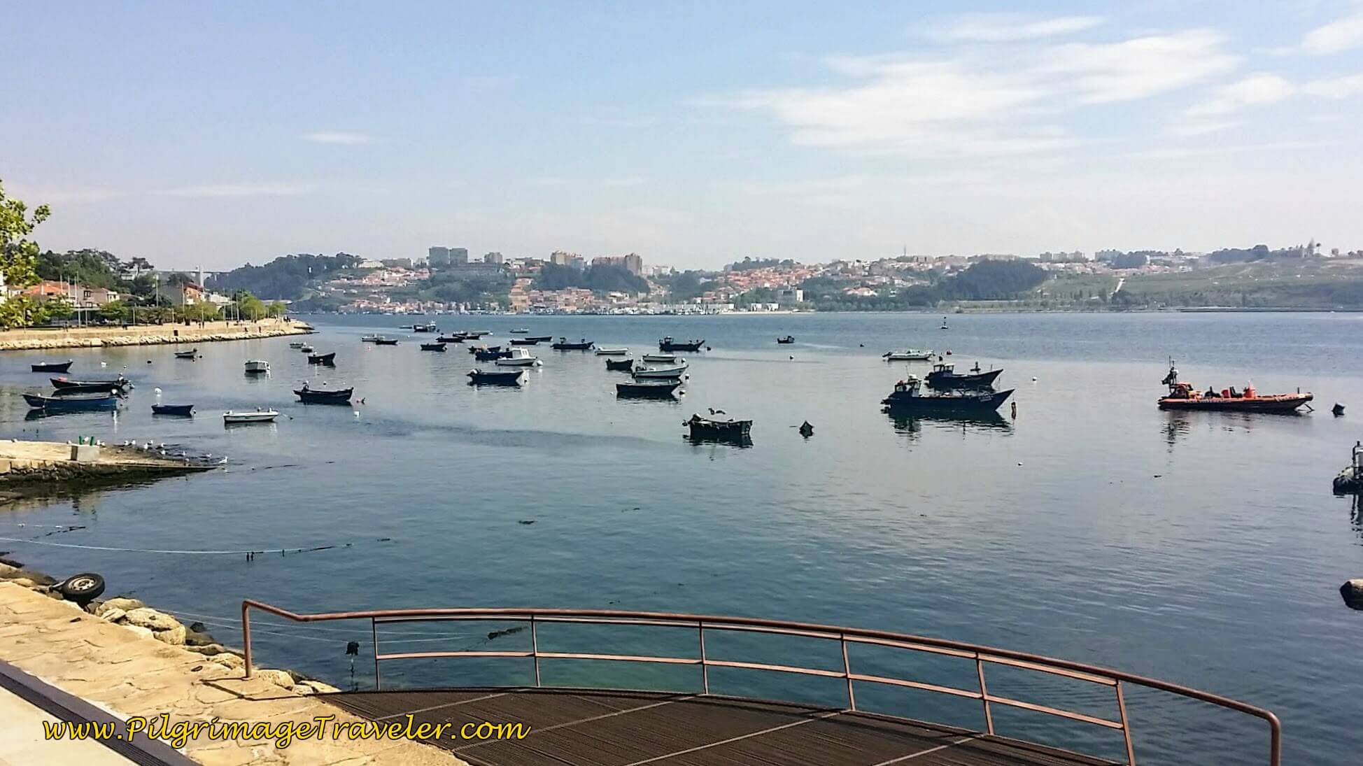 Fishing Boats Line the Harbor in Porto, Portugal