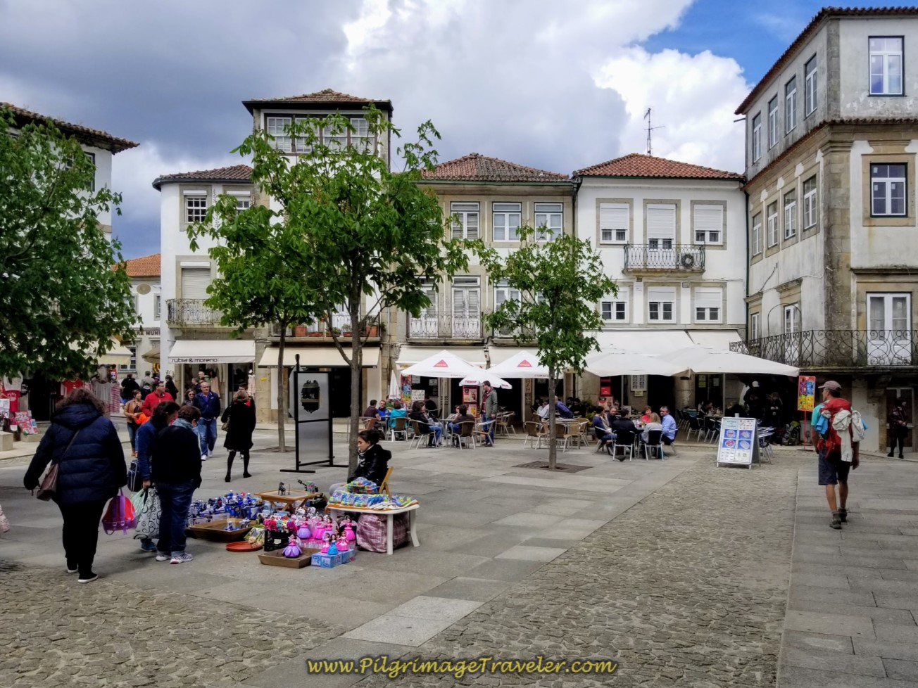 Praça da República, Valença on day nineteen on the Central Route of the Portuguese Camino