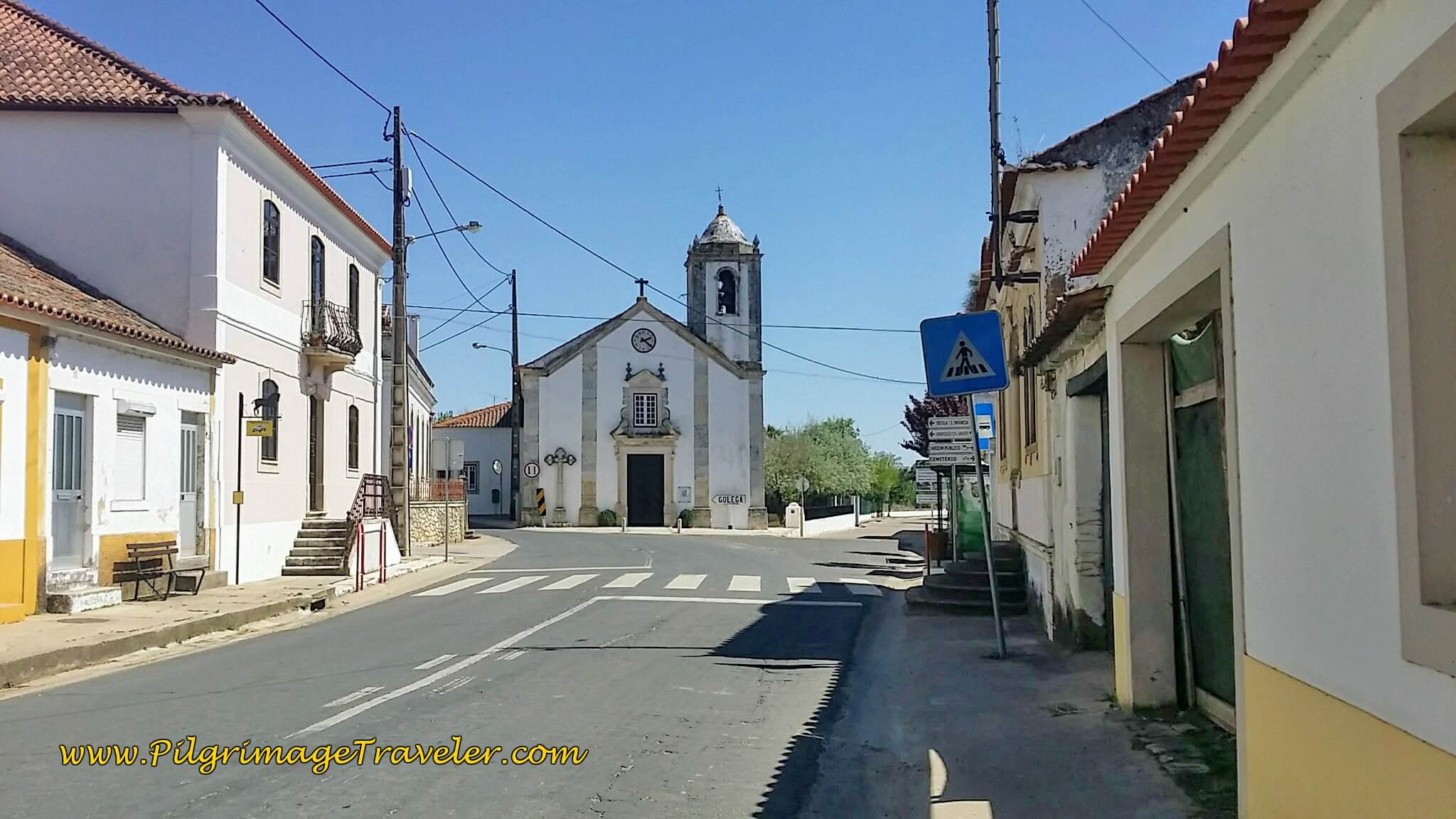 Church in Pombalinho Where Routes Diverge - 2nd Option for a Shortcut