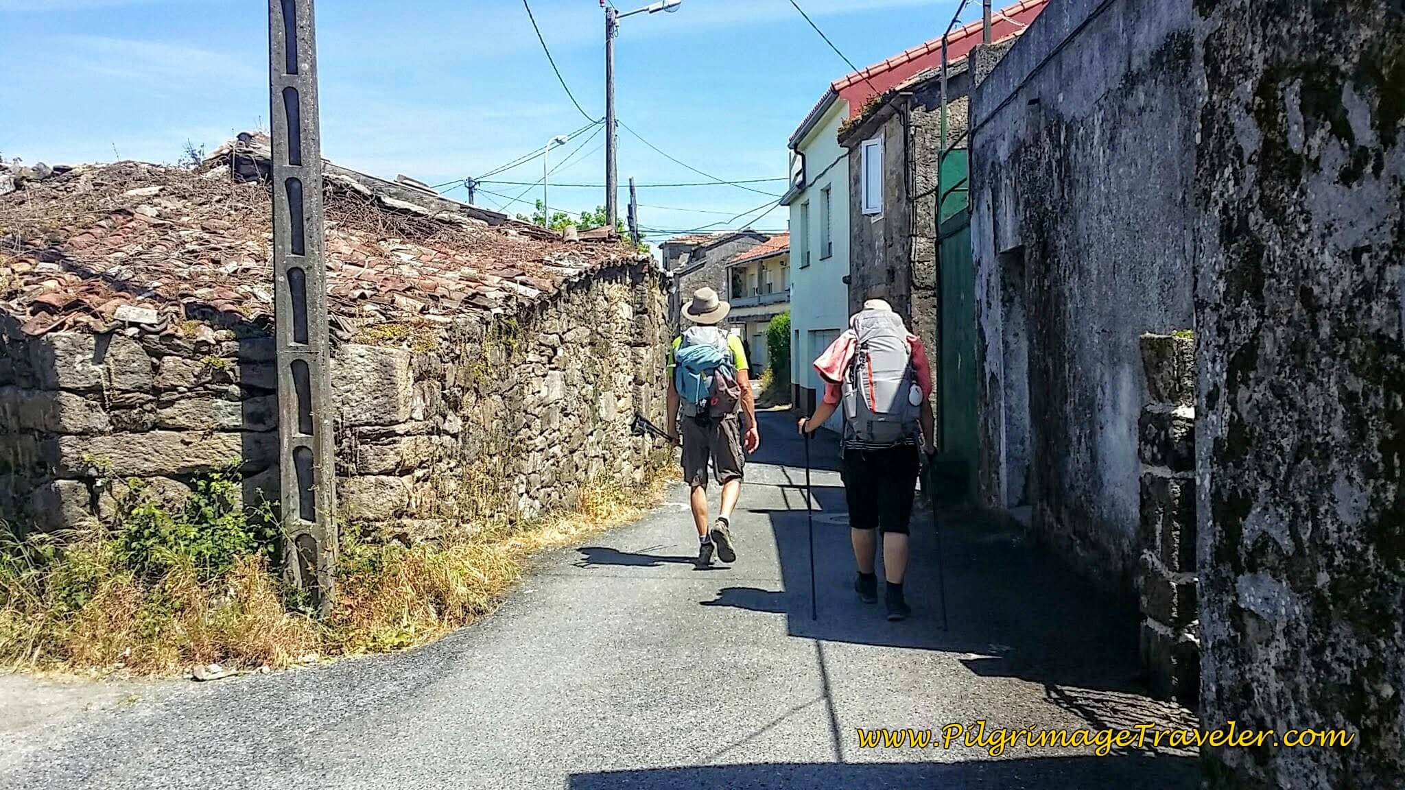 Rich and Lisa Walking on the Camiño Portugués on Day Twenty-Four, Portuguese Camino