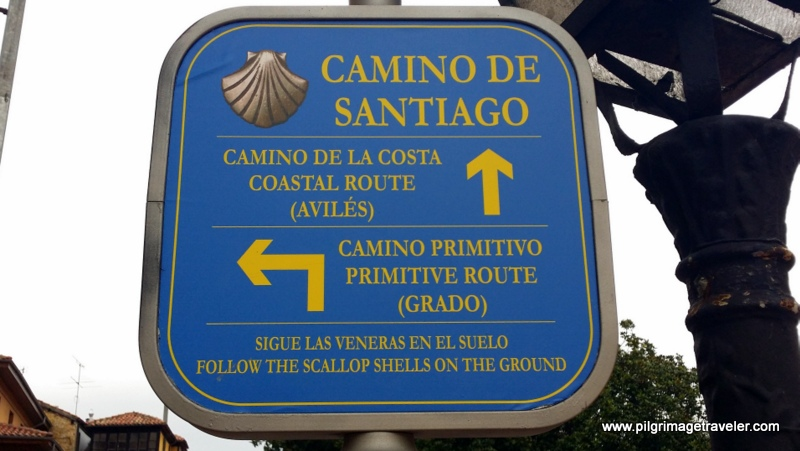 Sign Post Close-Up, Camino Primitivo, Oviedo, Spain