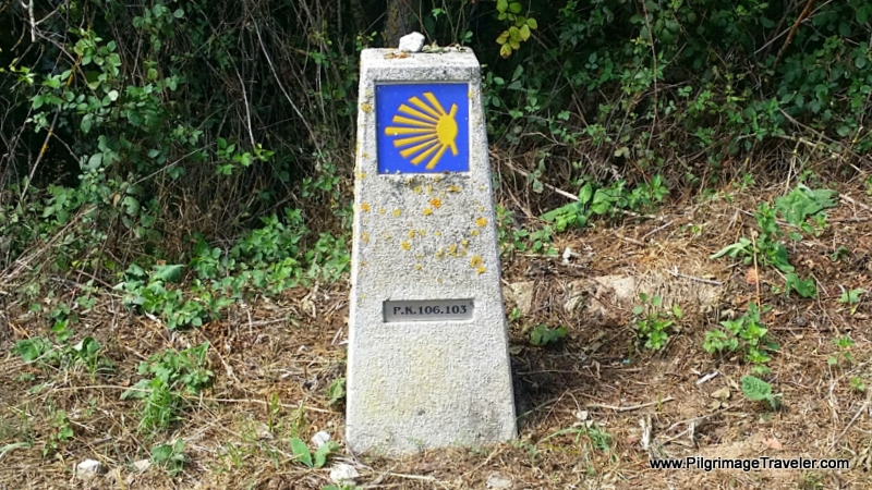 Waymark 106 km to Lugo, Spain