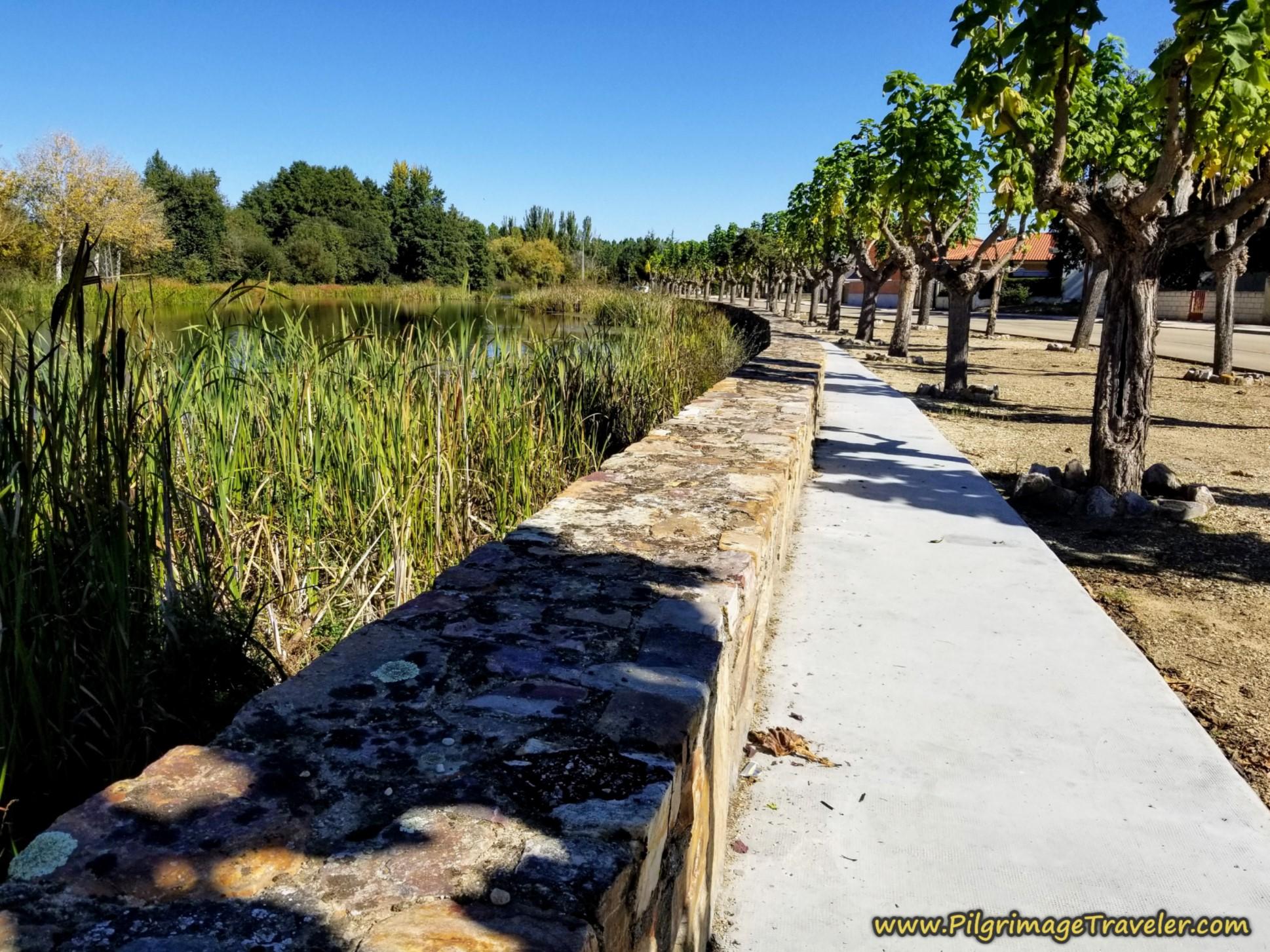 Río Tera Riverwalk in Santa Croya de Tera on the Camino Sanabrés from Tábara to Santa Marta de Tera