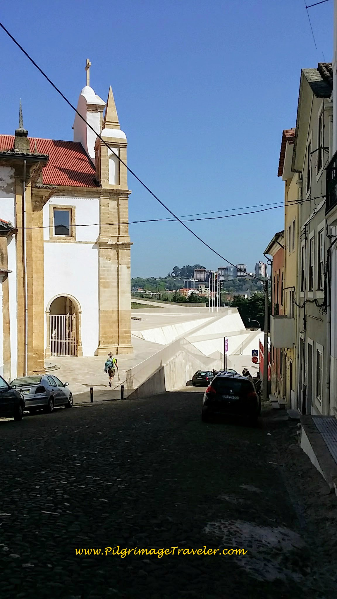Approaching the Convento São Francisco, Coimbra, Portugal