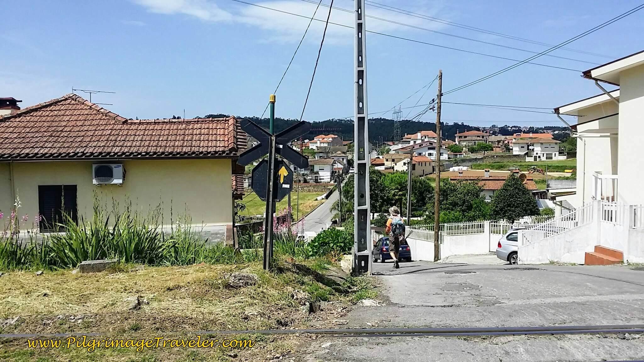 Continuing on Rua do Monte thru Suburbs on day thirteen of the Camino Portugués