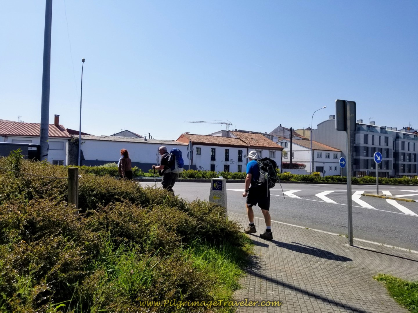 Up and Cross Over the N-550 Again on day eight of the Camino Inglés