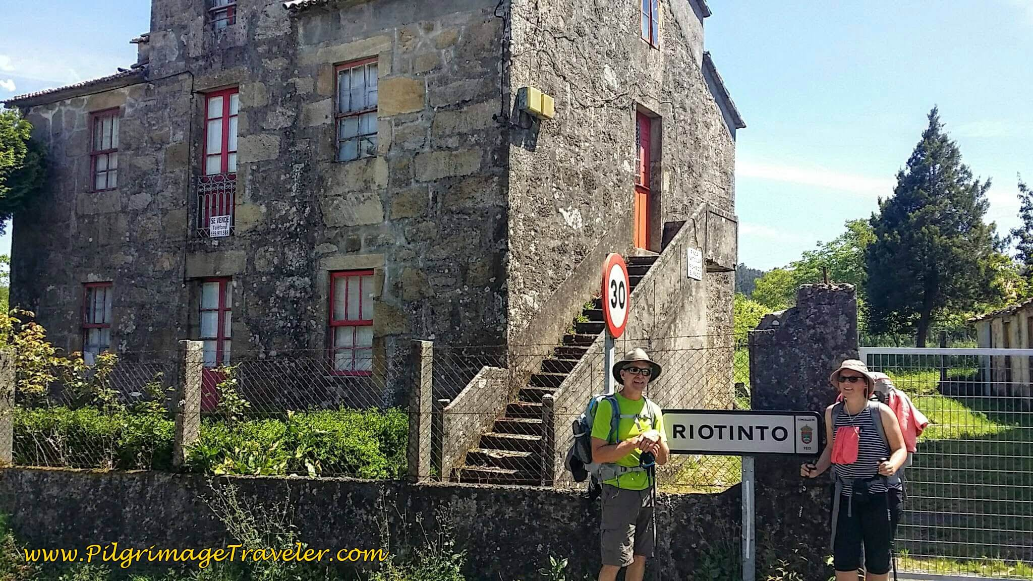 Signpost to Riotinto on Day Twenty-Four, Portuguese Camino