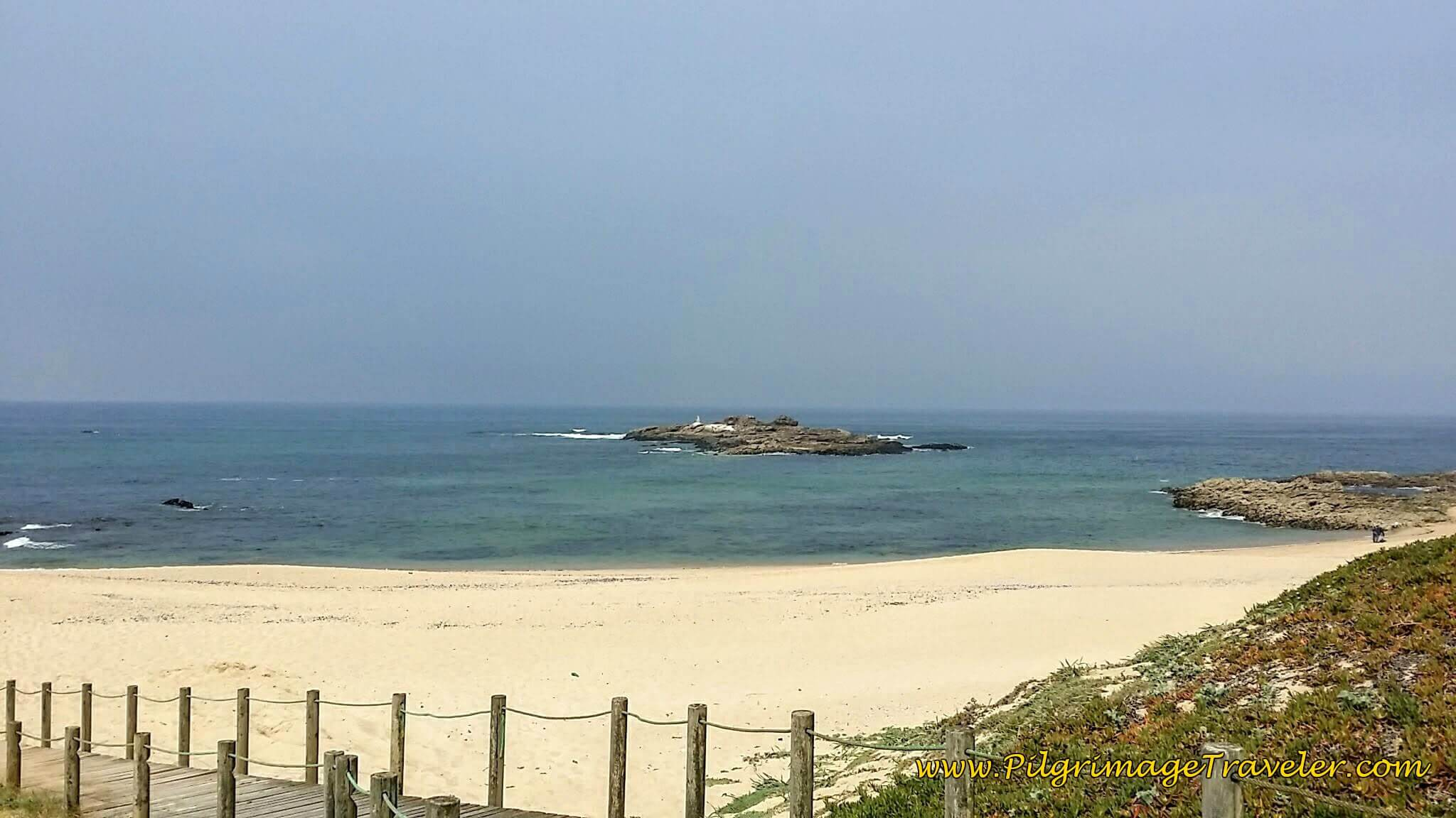 The Lovely Praia do Marreco on day fifteen of the Camino Portugués on the Senda Litoral