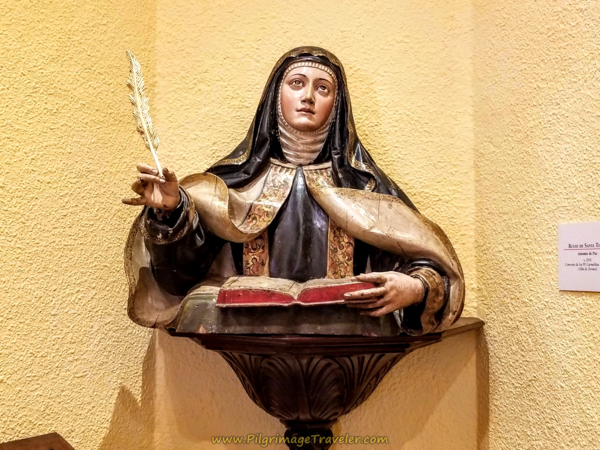 Carving of St. Teresa, Centro Teresiano Sanjuanista, Alba de Tormes